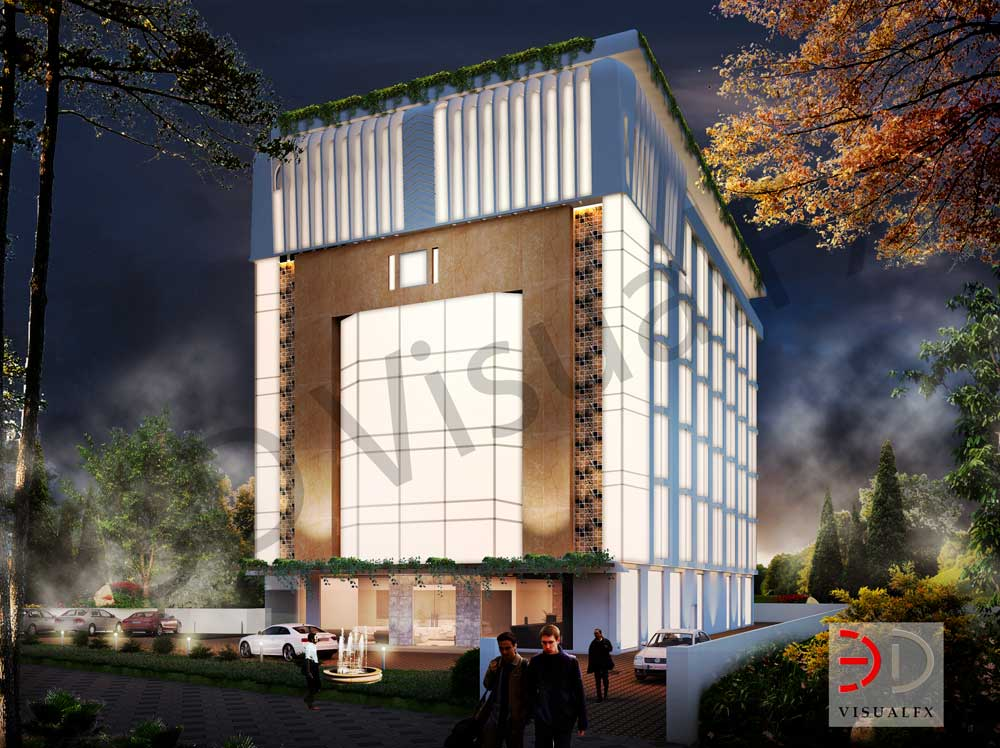 Hotel Exterior: Hotel Exterior 3D Visualization