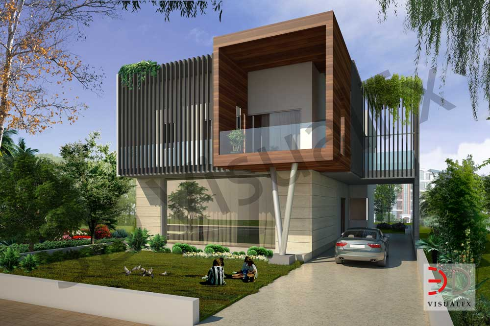 3d exterior sahibabad rendering