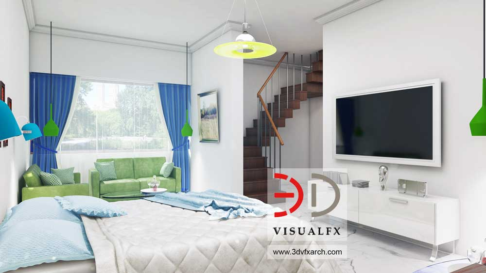 3D Bedroom Interior