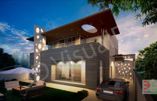 3D Exterior Residence Architectural Visualization