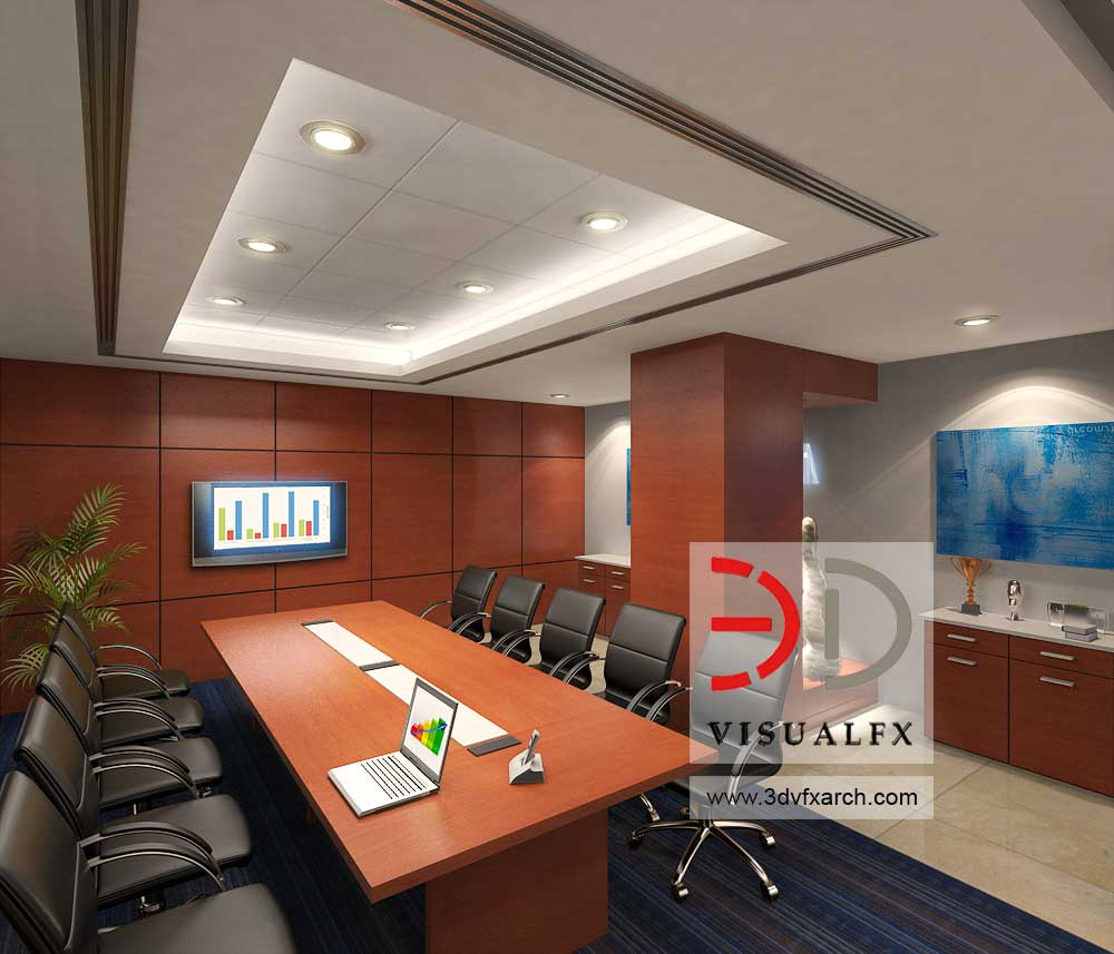 office conference 3d visualization