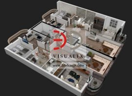 3d photorealistic architectural visualisation of Floor Plan