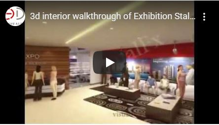 3d interior exhibition walkthrough
